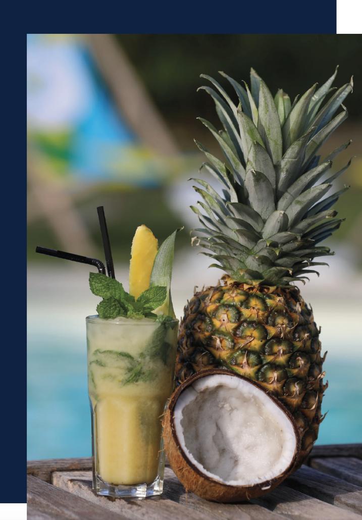 bar à cocktail lyon, mojito Colada ananas noix de coco cocktail sans alcool