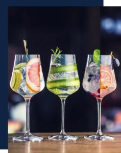 Bar éphémère cocktail gin tonic pour soirée entreprise et particuliers