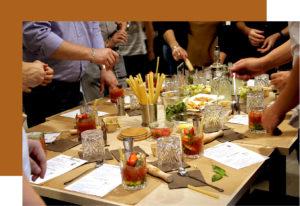 FIN PALLET creation de cocktails fruits rouges, vodka, Alain millat