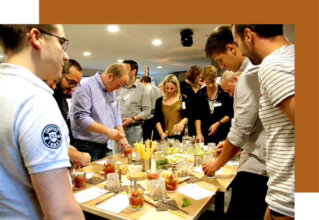 Cours création de cocktails à Lyon par FIN PALLET