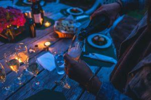 Service à champagne FIN PALLET événement pro Lyon Genève