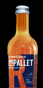 Spiritueux sans alcool extrait du rhum de la marque FIN PALLET