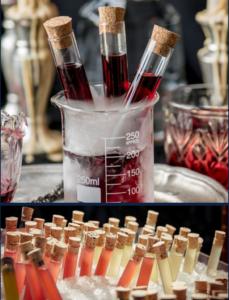 Cocktail innovant fin pallet et son bar mobile organisent pour le cocktail d'accueil