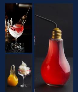 Animation atypique cocktail dans ampoule fin Pallet