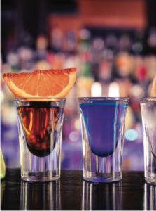 Bar à Cocktails Fin Pallet Lyon bar à shooters